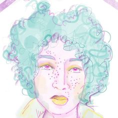 a lot of hair a bundle of freckles Hair A, Big Hair, Make Your Mark, 100th Day, Freckles, Draw, Illustration, Face, Instagram