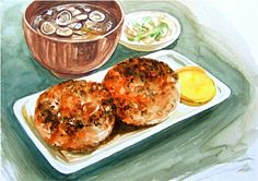 Hand-painted watercolor gourmet food favorite food goods also drawn so attractive