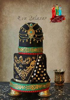 Emerald Queen - Indian Fashion Collab - Cake by Makememycake