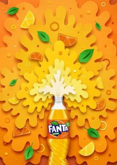 10 killer examples of illustrated ad campaigns - Fun Graphics - Ideas of Fun Graphics - Fanta Mashup by Owen Gildersleeve Creative Advertising, Ads Creative, Creative Posters, Print Advertising, Advertising Campaign, Print Ads, Mobile Advertising, Creative Poster Design, Crea Design