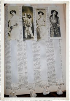 Crafty Project & Printable - Lady Actresses Bookmarks - The Graphics Fairy