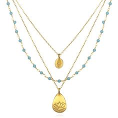 yoga jewelry necklace - love the turquoise!!!