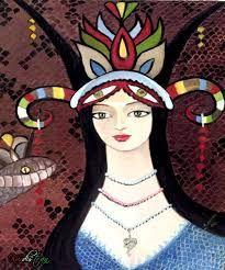 şahmaran ile ilgili görsel sonucu Snake Goddess, Snake Art, Echidna, Turkish Art, Poster Pictures, Mythological Creatures, Painting Lessons, Hand Painted Ceramics, Ceramic Painting