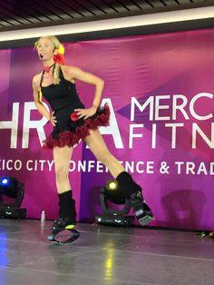 Merce Sebastia, International Trainer en la Master Class en el IHRSA 2015 Mercado Fitness México #kangoojumps #saltasaludable