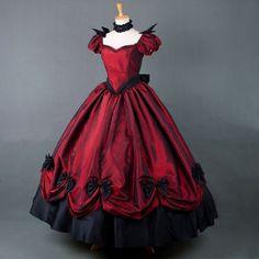 Victoria court ball gown show long dress gothic lolita dresses