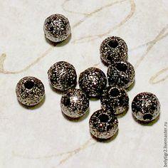 """Купить шарик металлический """"Звездная пыль», 4 мм, медь, цвет gunmetal, 10 шт"""