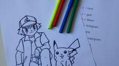 Pokemon kleurplaat. Kleur op Chinees karakter of gebruik je eigen fantasie.