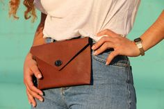 Leather bag Leather hip bag Leather fannypack Leather