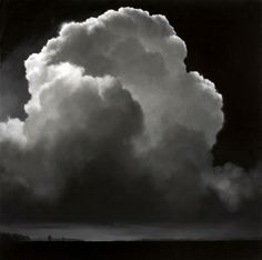 """Black & White Cloudscape - 2004"" (Oil on 48cm x 48cm Canvas) ~ by James Mc LAUGHLIN WAY - ""Cloudscape I Series""."