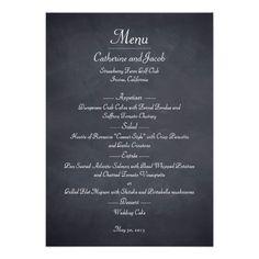 Simple Wedding Menu Chalkboard Look Wedding Menu Card Chalkboard Wedding Invitations, Wedding Invitation Kits, Simple Wedding Invitations, Dinner Invitations, Invitation Ideas, Invite, Wedding Menu Template, Wedding Menu Cards, Menu Templates