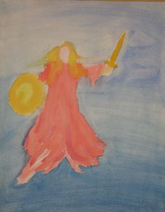 Waldorf ~ 4th grade ~ Norse Mythology ~ watercolor painting