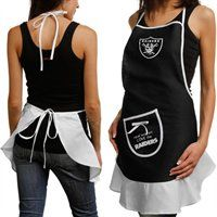 Oakland Raiders Ladies Black Hostess Apron