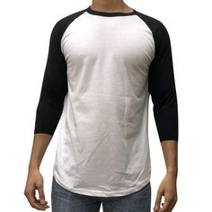 d094e625 KANGORA Men's Plain Raglan Baseball Tee T-Shirt Unisex 3/4 Sleeve Casual  Athletic Performance Jersey Shirt (24+ Colors)