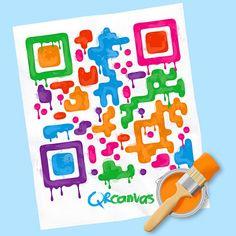 Kindergarten QR-code canvas
