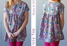 Climbing the Willow: the Izzy top pattern is now available in sizes 6 - 12!-- Free pattern