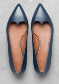 "& Other Stories leather ballerinas, ""Cute for work or otherwise"""