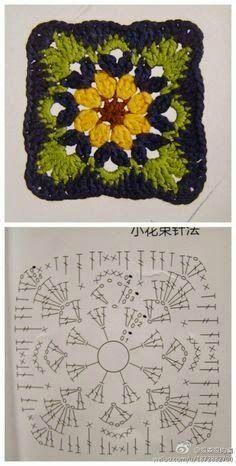 Transcendent Crochet a Solid Granny Square Ideas. Inconceivable Crochet a Solid Granny Square Ideas. Crochet Motifs, Granny Square Crochet Pattern, Crochet Diagram, Crochet Chart, Crochet Squares, Crochet Stitches, Granny Squares, Beau Crochet, Love Crochet