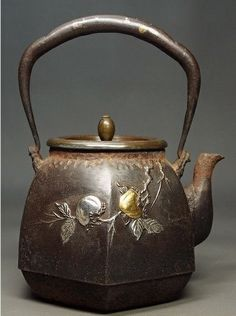 Kyoto Iron teakettle Meiji-Taisyo