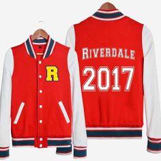 2017 TV series Riverdale baseball jacket for teens fleece sweatshirts XXXL