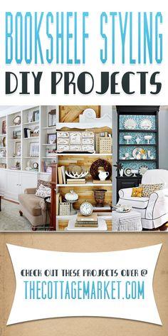 Bookshelf Styling DIY Projects - The Cottage Market