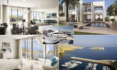 BEACHFRONT LUXURY: Inside the £2.5million villas that have a parking space for your yacht