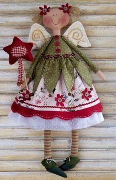 Sweet Little Angel Doll Pattern Christmas Sewing, Christmas Angels, All Things Christmas, Christmas Crafts, Christmas Decorations, Christmas Ornaments, Christmas Patchwork, Christmas Music, Sewing Crafts