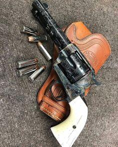 Handgun, Firearms, Custom Revolver, Single Action Revolvers, Cowboy Action Shooting, Hand Cannon, Lever Action Rifles, Cowboy Gear, Steel Art