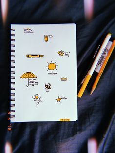 easy drawings aesthetic doodles beginners quick yellow sketches sunny puns simple drawing beginner sketch summer sunshine sharpie butterfly