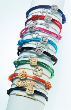 Totally obsessed with these cord charm bracelets and for $38 they are the perfect gift (Mother's Day, Birthday, Hostess Gift, Teachers Gift!!!!) LOVE LOVE LOVE!!!