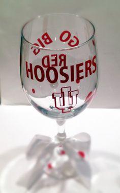 Indiana University Wine Glass by melaniedupuy on Etsy, $12.00