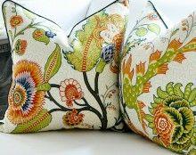 Martyn Lawrence Bullard Sinhala Linen Print Bittersweet - great resource for designer fabrics