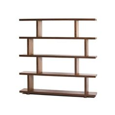 Balance Bookshelf in Walnut. With nail glue and a nail gun, I could totally make this.