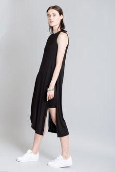 NEW Black Dress / Minimalist Dress / Extravagant Tunic Dress / Casual Dress / Party Dress / Cocktail Dress / marcellamoda- MD291