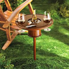 Picnic Table With Bottle Cooler