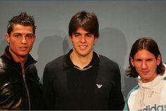 Young Ronaldo,Kaka,Messi
