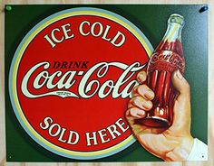 Coca Cola Sold Here Tin Sign Soda Pop Coke Pepsi Classic Advertisement Pepsi, Coca Cola Drink, Cola Drinks, Coca Cola Ad, World Of Coca Cola, Coca Cola Vintage, Vintage Advertisements, Vintage Ads, Vintage Posters