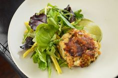 Crab Cake with Avocado Vinaigrette and Mango – Six Pack or Bust!