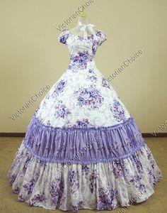 Civil War Southern Belle Lolita Ball Gown Dress Reenactment