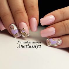 Beauty Nails, Hair Beauty, Disney Nails, Foil Nails, Beautiful Nail Designs, Trendy Nails, Short Nails, Spring Nails, My Nails