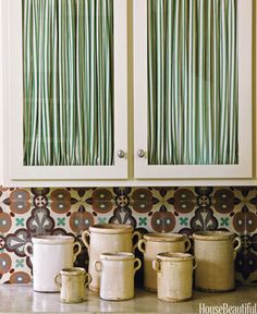 fabric kitchen cabinet doors - Google Search