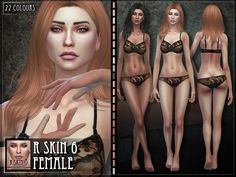 A new skin for female sims! R skin 06  Found in TSR Category 'Sims 4 Skintones'