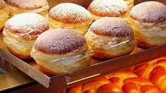 Austrian pastry.  Krapfen is a pastry of yeast dough fried in either fat or oil. Krapfen are dusted with sugar or iced. They are usually injected with a jam filling after being cooked. They are so tasty they'll make even staid adults want to scarf a dozen in one sitting.