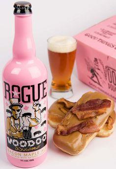 Bacon Beer >> Voodoo Doughnut Bacon Maple Ale... It really tastes like bacon and maple donuts.