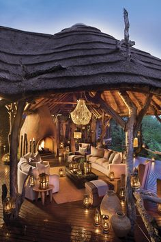 Madikwe Safari Lodge - South Africa Built in. Game Lodge, Container Architecture, Beautiful Places To Visit, House Goals, Luxury Apartments, Outdoor Entertaining, Outdoor Rooms, Luxury Living, Outdoor Structures