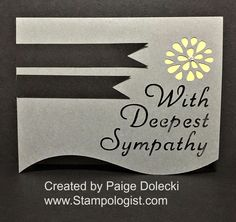Paige Dolecki - Stampologist: Simple and Classic Sympathy Card made with Artfully Sent