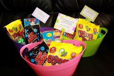 """Just """"popping"""" by gift idea (pop rocks candy, ring pops, etc.)"""