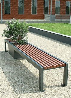 Public bench with green options