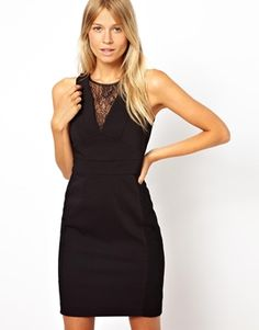 Oasis Lace Insert Fitted Dress