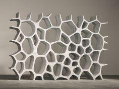 MARC NEWSON, Voronoi Shelf (white), 2006 White Carrara marble, 70 1/8 x 108 3/4 x 14 3/4 inches (178.1 x 276.2 x 37.5 cm) Edition of 8