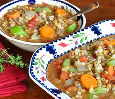 Barley Lentil Soup | Food Hero - Healthy Recipes that are Fast, Fun and Inexpensive